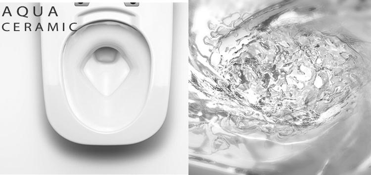 Công nghệ aqua ceramic và công nghệ xả xoáy